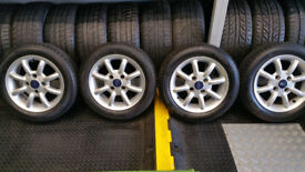 Ford Genuine 14 alloy wheels + 4 x tyres 165 60 14