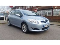 TOYOTA AURIS TR 1.6 PETROL 2007 1 P/LADY OWNER 114000 MILES FULL SERVICE HISTORY AIRCON ALLOYS 5DR
