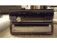 Apline CD DVD TV monitor Double Din.