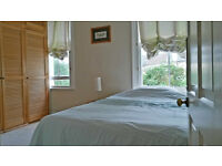 * * SHORT LET : Lovely Mid Sized Dble Room looking over back Garden - For a Quiet Single Prof. * *