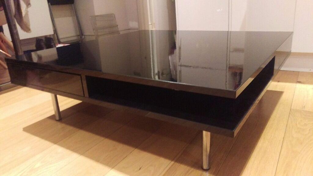 ikea black gloss coffee table tofteryd in clapham london gumtree