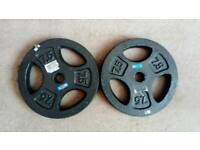 tri grip metal weight plates