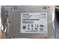 Toshiba 512gb SSD hard drive