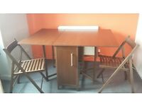 Butterfly Drop Leaf Table With 4 Chairs