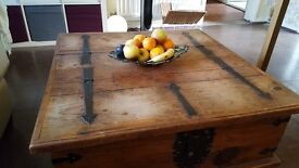 Rustic Coffee Table with Lots of Storage Area