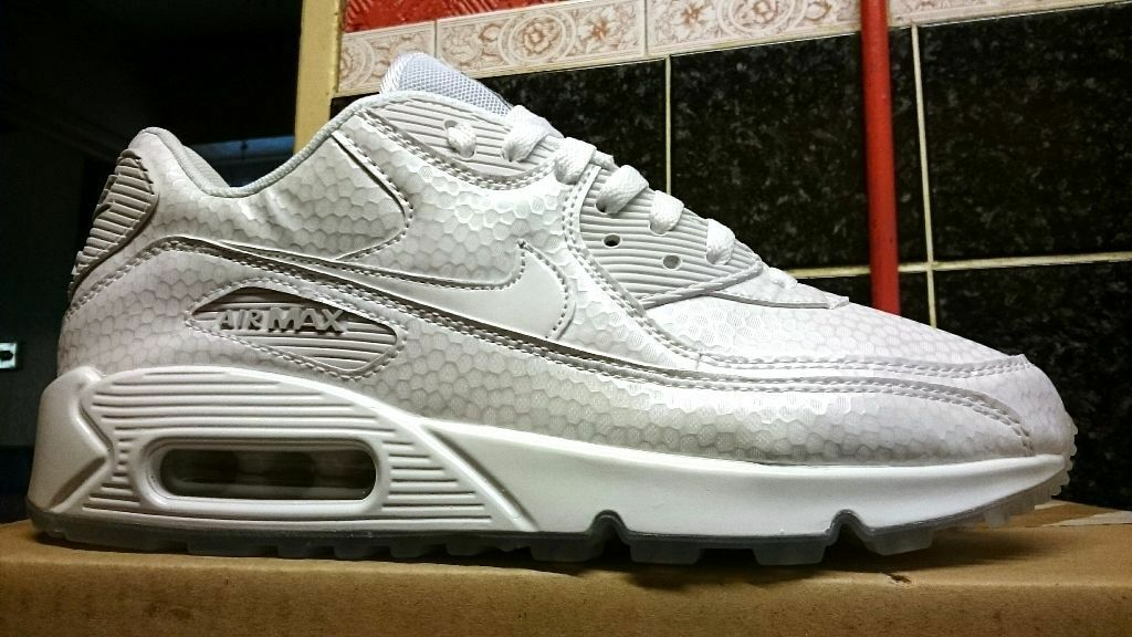 gckys NIKE Air Max 90 Pearl Pack White Ice Sole Size UK 8** Zero/95/1/QS