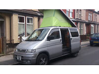 Here is our Bongo camper 2.5 diesel auto free top roof, cd player, twin hob, sink, fridge
