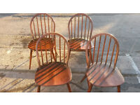 Vintage Ercol chairs x4