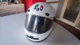 VINTAGE AGV X15 VALENZA ITALY FULL FACE MOTORCYCLE CRASH HELMET PULL DOWN VISOR THE STIG DISPLAY