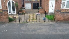 Iron driveway gates - Main and side double gates £150 collection only