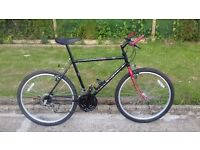 """MENS GENTS ADULTS RALEIGH OUTLAND 26"""" WHEEL 20"""" FRAME 18 SPEED BIKE BICYCLE"""