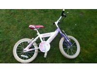 "Girl bike sunbeams 16"" wheel for 4-7 years"