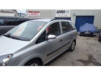Vauxhall ZAFIRA Life,7 seat MPV,FSH,full MOT,nice clean tidy car,runs and drives well,only 63k