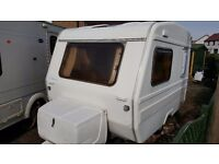 Freedom Jetstream First Class, Off-grid solar converted 2 berth micro caravan