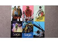 SAGA - First 6 volumes of the award-winning sci-fi comic series - Good Condition, CHEAP - COLLECT