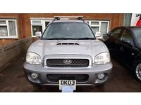 03 HYUNDAI SANTA FE 44x4 2ltr turbo diesel. Mint condition 112000 miles. NO PAYPAL REQUESTS