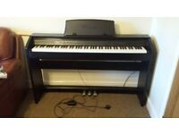 Piano - Casio Privia full size, electric in excellent as new condition.