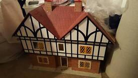 Handmade dolls house + furniture
