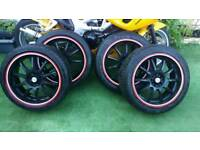 "Alloy wheels 18"" will fit BMW Audi Mercedes Vw Skoda Saab Vauxhall"
