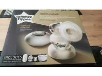 Tommee Tippee Electric Breast Pump with milk storage pouches and adapters
