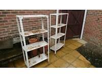 2 sets of metal shelving units rack workshop garage shed