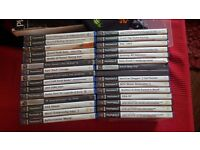 30 PS2 games with cases. Various titles