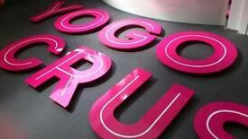 CUT ACRYLIC 3D SIGN LETTERING :: PERSPEX LETTERS :: London signs letters, shop sign letters
