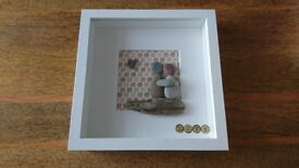 home made picture box frame - love (9 x 9 inches)