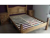 Corona double bed frame