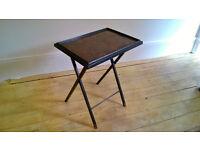 Vintage 1960's Artex Black&turtle shell like TV Folding Butlerette Serving Table