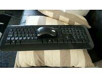 Microsoft wireless keyboard and mouse set.