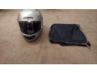 Silver Caberg motorbike helmet (M) hardly used