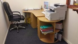 Office table & chair for sale