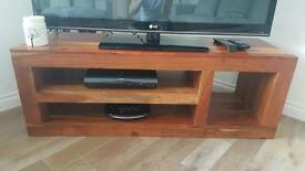 Next solid wood tv unit stand