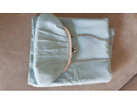 lovely pale blue strapless bridesmaid dress size 12 with shawl and bag.