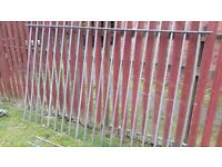 Steel railings galvanised