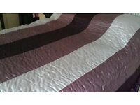 Next kingsize quilted bedspread plum and pinks