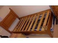 Handcrafted Solid Pine Single Bed Frame OIRO Reduced £80