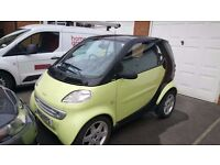 Smart City Coupe Fortwo in Lime Green. 12 months MOT. £30 Tax a year