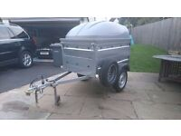 Brenderup 1150S trailer with extended sides and ABS top