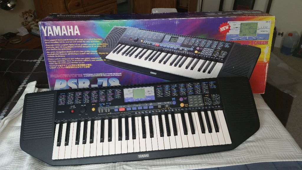 yamaha psr 78 electronic keyboard for sale in southsea hampshire gumtree. Black Bedroom Furniture Sets. Home Design Ideas
