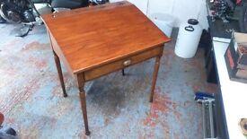 Antique wooden school writing desk