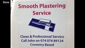 Smooth plastering Coventry cheylesmore based07407489124
