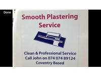 Smooth plastering Coventry cheylesmore based