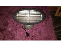 Wall mounted, electric, patio heater with 3 pin plug