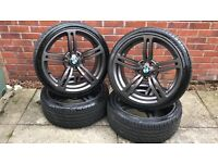 19 inch 167 style Alloy Wheels 5x120 PCD BMW with very good tyres