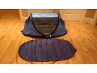 Pop up travel cot / tent