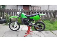 kx 80cc 1987 very clean bike