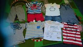 Baby boys 3-6 months summer bundle