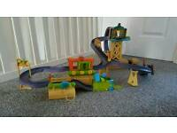 Chuggington trains playset with multiple tracks